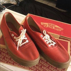 Vans red shoes